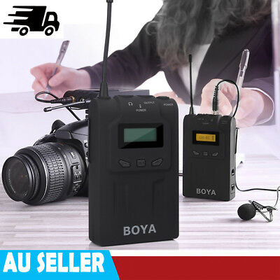BOYA BY-WM6 Pro UHF Wireless Lavalier Microphone for ENG EFP DSLR Camera