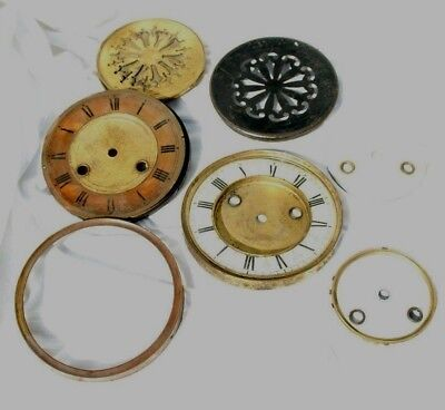 Antique Clock Parts - Enamel Faces, Bezels etc. Spares/Repair