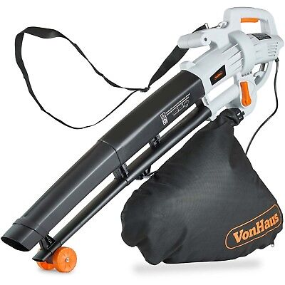 VonHaus 3000W Leaf Blower – 3-in-1 - Blows, Vacuums and Mulches Leaves – 35L Bag