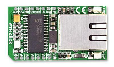 MCU/MPU/DSC/DSP/FPGA Development Kits - ADD-ON-BOARD ETH CLICK MIKROBUS
