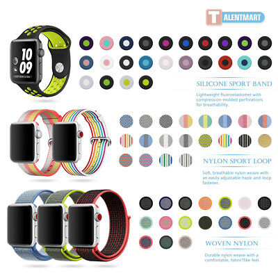 Nylon Silicone Stainless Sport Band Strap Bracelet For Apple Watch 38mm 42mm 321