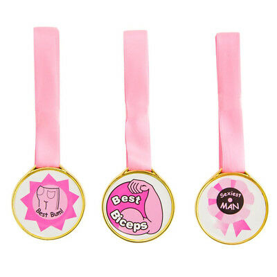 Hen Do Party Hottie Award Medal Game Novelty Girls Night Fun 3pk - Adults