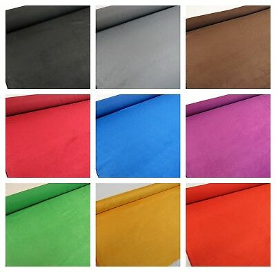 25 Cols FLAME PROOF Faux Suede Suedette Upholstery Fabric 225 Grams 150 cms Wide