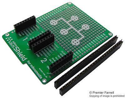 MCU/MPU/DSC/DSP/FPGA Development Kits - BOARD MIKROMEDIA MIKROBUS SHIELD