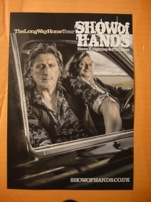 Steve Knightley & Phil Beer A5 Flyer - Show Of Hands - The Long Way Home 2016