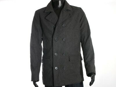 05974cfb ZARA MAN NAVY WOOL DOUBLE BREASTED CLASSIC COAT Size L - £40.00 ...