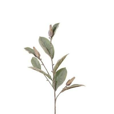 Artificial Magnolia Leaf Greenery Spray - Grey Green