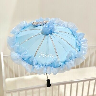 Pram Parasol Canopy Umbrella Personalised Pushchair Buggy Universal Girls Boys