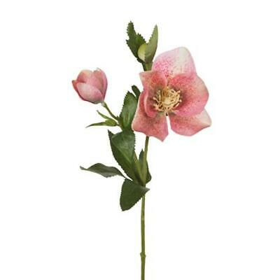Artificial Silk Helleborus Flower Stem - Pink