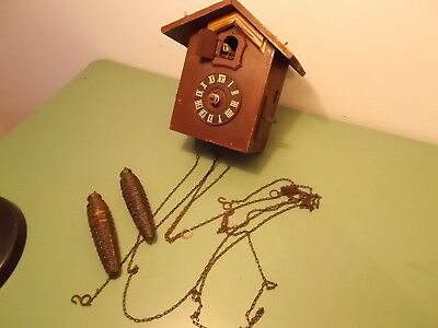Vintage  Cuckoo clock Spares or repair. German movement GEBR.KUNER