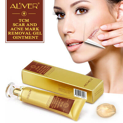 ALIVER Ginseng Acne Scar Removal Face Gel Stretch Cut Burn Spots Marks Treatment