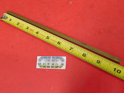 """1/4"""" x 1/4"""" C360 BRASS SQUARE BAR 10"""" long Solid .50"""" Flat Mill Stock H02"""