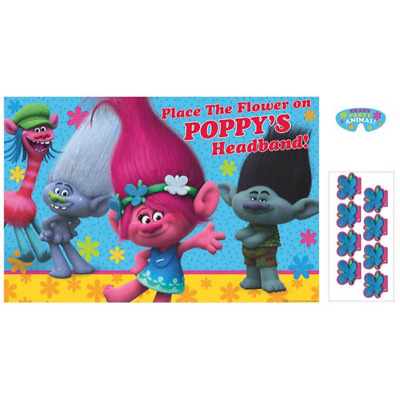 Dreamworks Trolls Birthday Party Poster Game For 2 8 Players Poppy