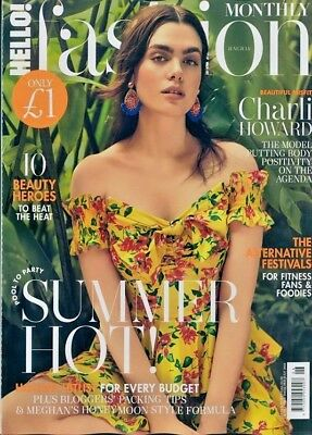 Hello Fashion Monthly Magazine June / July 2018 ~ Charli Howard Cover ~ New ~