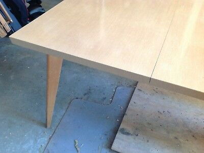 VINTAGE Mid Century DAYSTROM Dining room table with angled wooden legs