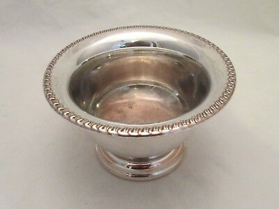 A Good Small Vintage Silver Plated Dish / Bowl - Silver on Copper