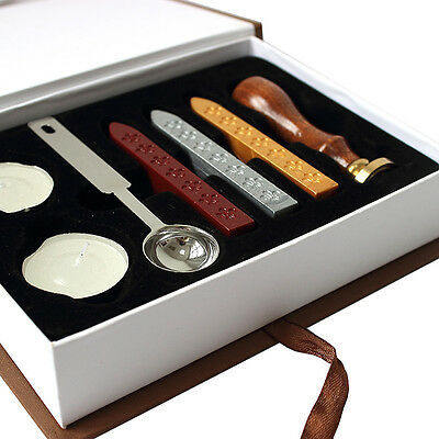Retro Classic Initial Alphabet Wax Seal Stamp Kit Sealing Wax Letter Invitation~