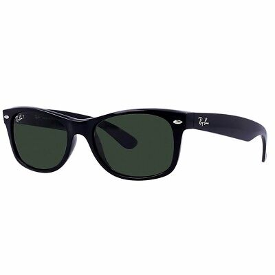 d4ff2b8932 Ray-Ban RB2132 Polorized New Wayfarer Men Women Sunglasses Black Black  pre-owned