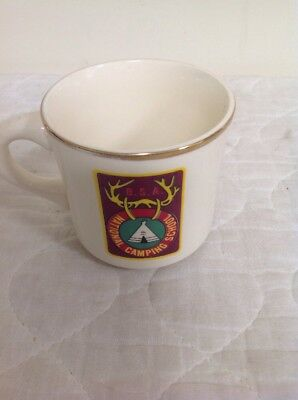 Boy Scouts of America ~ National Camping School Coffee Mug ~ mid 1970's Vintage