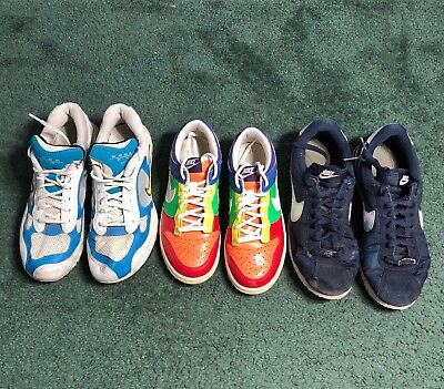 NIKE Lot Wholesale Used Shoes Rehab Resale THREE PAIR Collection