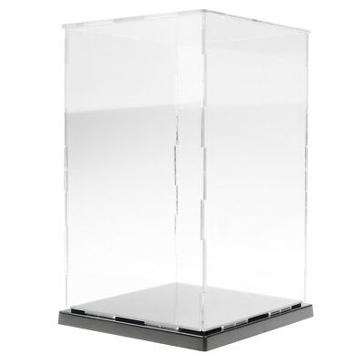 Clear Acrylic Display Case w/ Balck Base Dustproof Protector Box for Model Car
