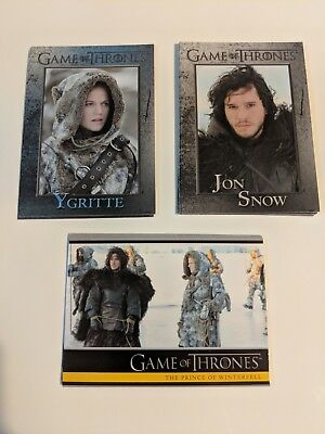 2013 Game of Thrones Season 2 Jon Snow Ygritte Lot of 3 Cards