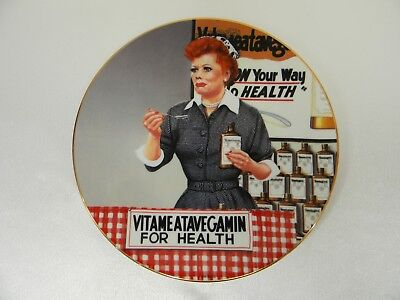 "The Hamilton Collection I Love Lucy Plate ""It's Just Like Candy"" by Jim Kritz"