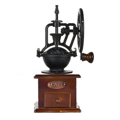 Manual Coffee Grinder Antique Cast Iron Hand Crank Coffee Mill With Grind S V4T4