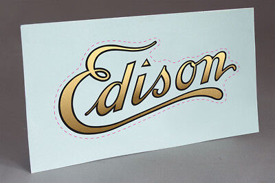 Pre Cut Water Slide Decal Edison Logo For Cylinder Phonograph Cabinets