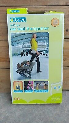 BRICA Roll N Go Car Seat Transporter Great For Airports