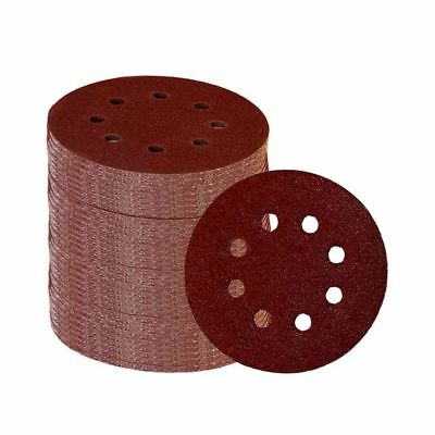 60 Pieces 8 Holes 5 Inch Sanding Discs Hook and Loop 60/100/180/240/320/400 H1E2