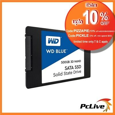 Western Digital 500GB SSD 3D NAND Solid State Drive WD Blue 2.5 SATA III PC