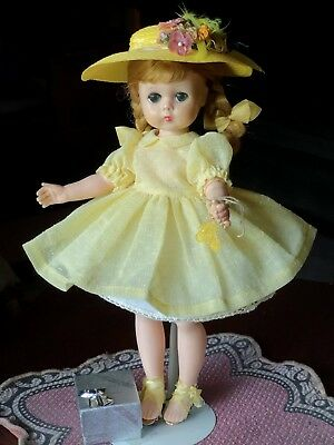 """Vintage Madame Alexander 11"""" Lissy Doll Blonde Braids & EXTRA CLOTHES FREE SHIP"""