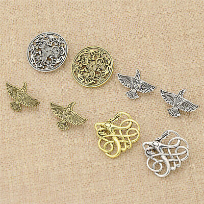 Men's Norse Viking Alloy Brooch Pin Shirt Decor Charms Fashion Jewelry Gift
