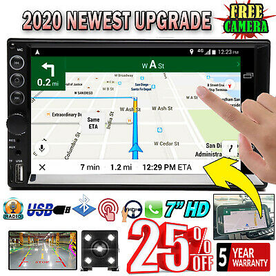 7'' Double Din Car Stereo Head Unit  Touch MP5 Player USB Radio Backup Camera