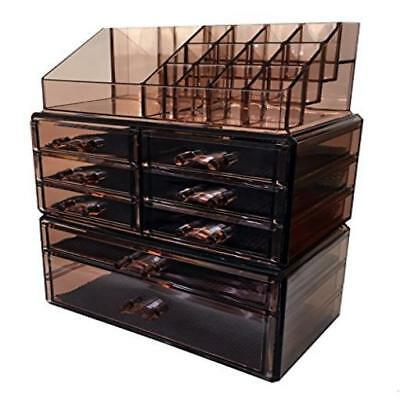 Sodynee Acrylic Makeup Cosmetic Organizer Storage Drawers Display Boxes Case New