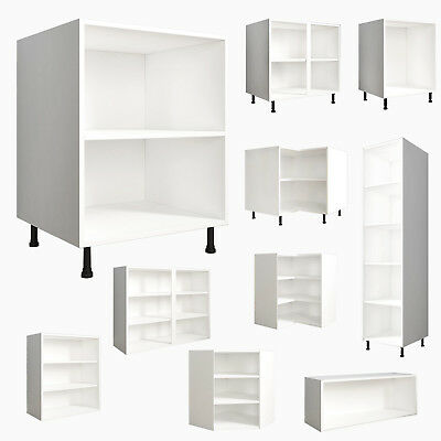 Kitchen Base/Wall/Bridge Units Carcases Drawing Cupboards Clicbox White Cabinets