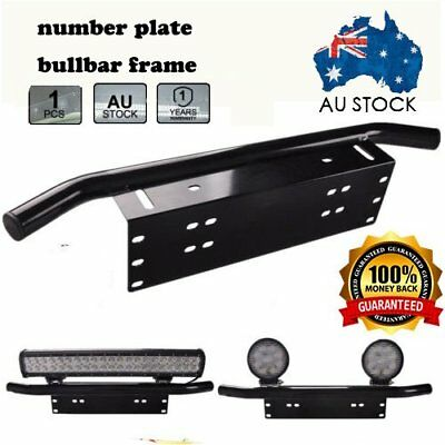 CAR Front Bumper License Plate Mount Bracket LED Work Light Bar UHF Holder B