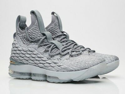 the best attitude ce35c 9292f ... quality design 48ad7 38ae8 Nike LeBron 15 XV Wolf Grey Gold Size 11.  897648 ...