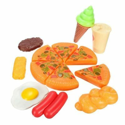 13pcs Funny Kids Plastic Pizza Cola Ice Cream Food Kitchen Role Play Toy Ho R4V8