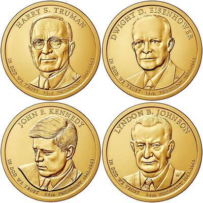 2015 (33th to 36th) US President - Four $1's Uncirculated Coins