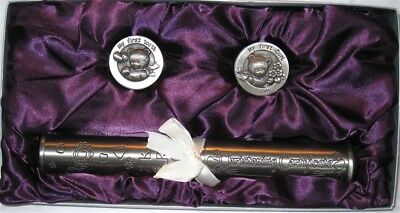 Pewter Christening Set with Certificate Holder & 1st Tooth and Curl Boxes