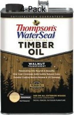 Thompson's WaterSeal Walnut Transparent Timber Oil Gallon (4-Pack)
