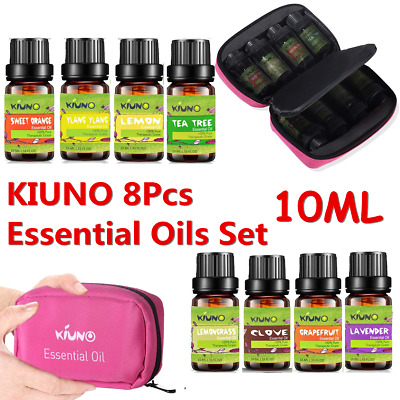 Pure Aromatherapy Essential Oil 8pcs A Set for Air Diffuser Aroma Humidifier AU
