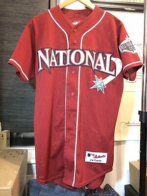 889997ba5 National League 2001 MLB ALL Star Game Seattle Mariners Game Jersey Medium