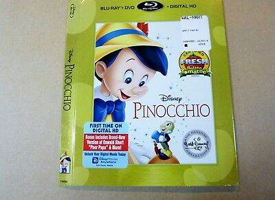Replacement Pinocchio Blu-ray Slip Cover Walt Disney Signature Collection