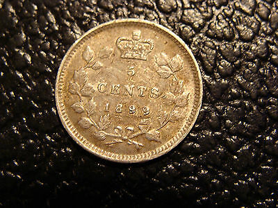 Better Grade 1899 Canada 5 Cent Silver WE COMBINE ON SHIPPING