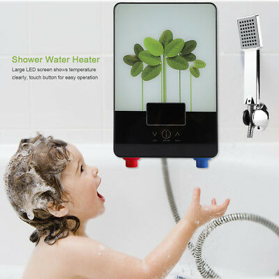 220V 6500W Green Leaves Tankless Instant Electric Hot Water Heater Bathroom