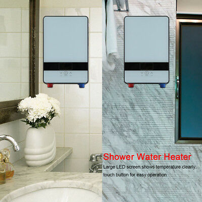 220V 6500W Tankless Instant Electric Hot Water Heater for Bathroom Shower A