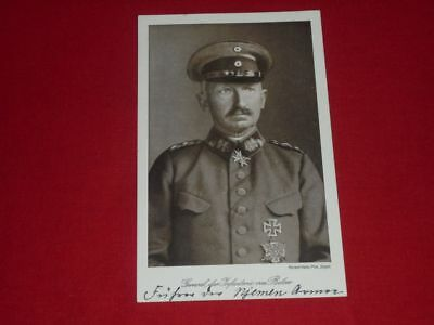 Otto von Below (+) signiert - Autogrammkarte - signed - General - 1 WK